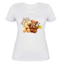Женская футболка Люблю Мамулю