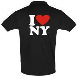 Футболка Поло Люблю Нью Йорк - FatLine