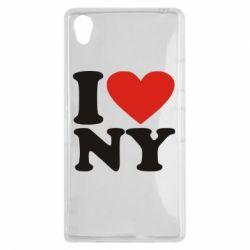 Чехол для Sony Xperia Z1 Люблю Нью Йорк - FatLine