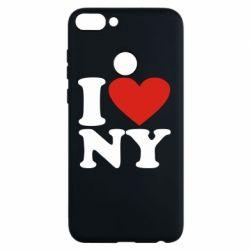 Чехол для Huawei P Smart Люблю Нью Йорк - FatLine