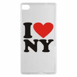 Чехол для Huawei P8 Люблю Нью Йорк - FatLine