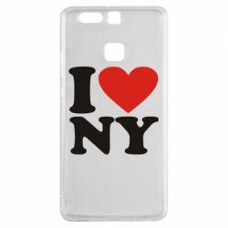 Чехол для Huawei P9 Люблю Нью Йорк - FatLine