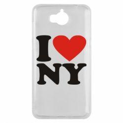 Чехол для Huawei Y5 2017 Люблю Нью Йорк - FatLine