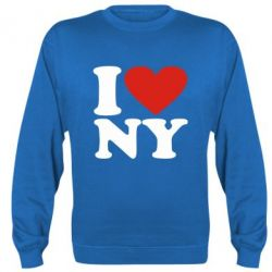 Реглан (свитшот) Люблю Нью Йорк - FatLine