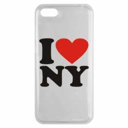 Чехол для Huawei Y5 2018 Люблю Нью Йорк - FatLine