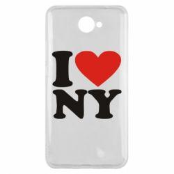 Чехол для Huawei Y7 2017 Люблю Нью Йорк - FatLine