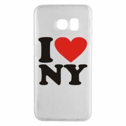 Чохол для Samsung S6 EDGE Люблю Нью Йорк