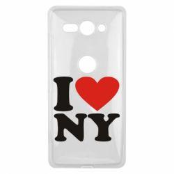 Чехол для Sony Xperia XZ2 Compact Люблю Нью Йорк - FatLine