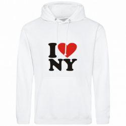 Толстовка Люблю Нью Йорк - FatLine