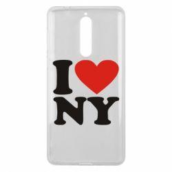 Чехол для Nokia 8 Люблю Нью Йорк - FatLine