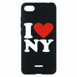 Чехол для Xiaomi Redmi 6A Люблю Нью Йорк - FatLine