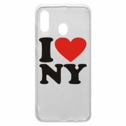 Чохол для Samsung A20 Люблю Нью Йорк