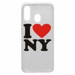Чохол для Samsung A40 Люблю Нью Йорк