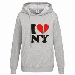 Женская толстовка Люблю Нью Йорк - FatLine