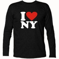 Футболка с длинным рукавом Люблю Нью Йорк - FatLine