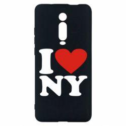 Чехол для Xiaomi Mi9T Люблю Нью Йорк