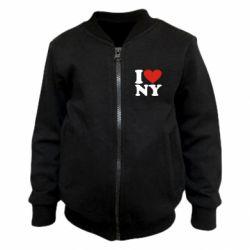 Дитячий бомбер Люблю Нью Йорк