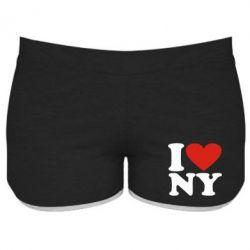 Женские шорты Люблю Нью Йорк - FatLine