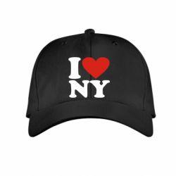 Детская кепка Люблю Нью Йорк - FatLine