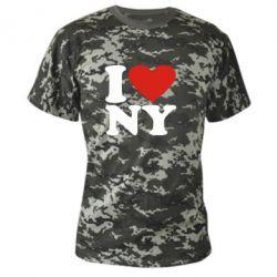 Камуфляжная футболка Люблю Нью Йорк - FatLine