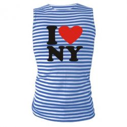 Майка-тельняшка Люблю Нью Йорк - FatLine