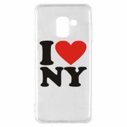 Чохол для Samsung A8 2018 Люблю Нью Йорк