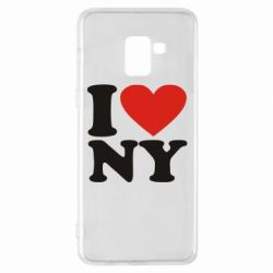 Чохол для Samsung A8+ 2018 Люблю Нью Йорк