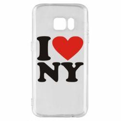 Чохол для Samsung S7 Люблю Нью Йорк