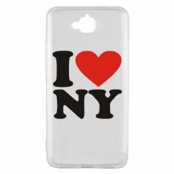 Чехол для Huawei Y6 Pro Люблю Нью Йорк - FatLine