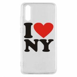 Чехол для Huawei P20 Люблю Нью Йорк - FatLine