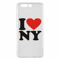 Чехол для Huawei P10 Plus Люблю Нью Йорк - FatLine