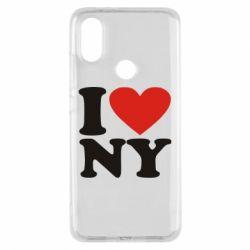 Чехол для Xiaomi Mi A2 Люблю Нью Йорк