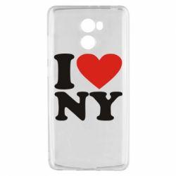 Чехол для Xiaomi Redmi 4 Люблю Нью Йорк - FatLine