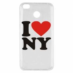 Чехол для Xiaomi Redmi 4x Люблю Нью Йорк - FatLine