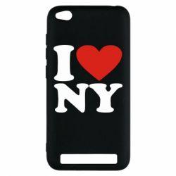 Чехол для Xiaomi Redmi 5a Люблю Нью Йорк - FatLine