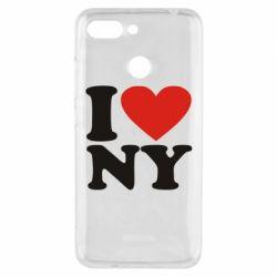 Чехол для Xiaomi Redmi 6 Люблю Нью Йорк - FatLine