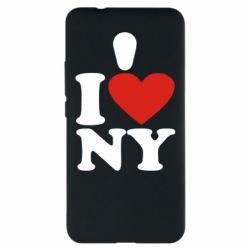 Чехол для Meizu M5s Люблю Нью Йорк - FatLine