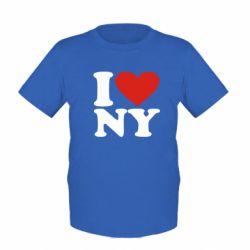 Детская футболка Люблю Нью Йорк - FatLine
