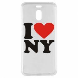 Чехол для Meizu M6 Note Люблю Нью Йорк - FatLine
