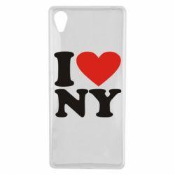 Чехол для Sony Xperia X Люблю Нью Йорк - FatLine