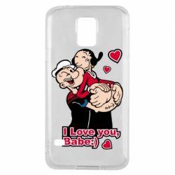Чехол для Samsung S5 Люблю тебя, детка
