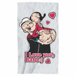 Полотенце Люблю тебя, детка