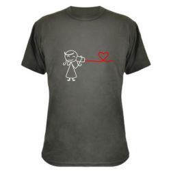 Камуфляжная футболка Любовное послание 2