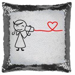 Подушка-хамелеон Любовное послание 2