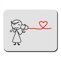 Коврик для мыши Любовное послание 2