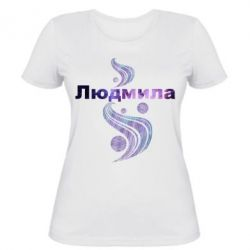 Женская футболка Людмила