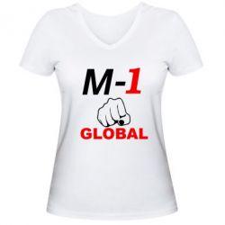 Женская футболка с V-образным вырезом M-1 Global - FatLine