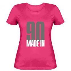 Женская футболка Made in 90 - FatLine