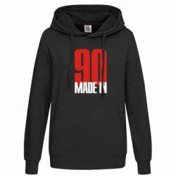 Женская толстовка Made in 90 - FatLine
