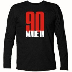 Футболка с длинным рукавом Made in 90 - FatLine